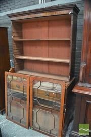 Sale 8291 - Lot 1054 - Late George III Mahogany Secretaire Bookcase, with two astragal doors, fall front enclosing fitted interior & two panel doors enclos...