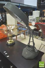 Sale 8302 - Lot 1057 - Industrial Desk Lamp with Magnifier Shade