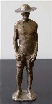 Sale 8310A - Lot 50 - A Greek Bronze figurine of a prisoner of war bearing signature to base (MAMASATKAE?) height 24cm