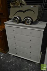 Sale 8499 - Lot 1661 - White Chest of Drawers