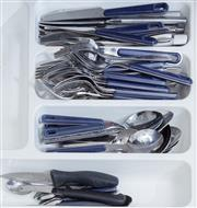 Sale 8593A - Lot 88 - Three drawers of utensils, including large quantity of steak knives, cork screws, etc