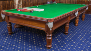 Sale 8677B - Lot 903 - Allcock and co of Sydney and London full size billiard table together with all the necessary accoutrements including balls, cues, br...