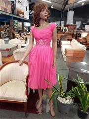 Sale 8672 - Lot 1096 - Female Mannequin with Hot Pink Dress