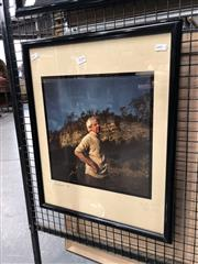 Sale 8789 - Lot 2058 - Simon Hohnen - Arthur and Yvonne [Boyd] on the Shoalhaven Riverbank 83 x 53cm (frame) signed and dated lower right