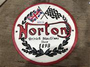 Sale 9006 - Lot 1039 - Cast Iron Norton Sign (D:21.5cm)