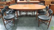 Sale 8409 - Lot 1037 - G-Plan Teak Table and Set of Eight Chairs