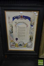 Sale 8500 - Lot 1024 - David William Duff Esquire Illuminated Address, by MLC Queensland branch on his departure, with nine landscape vignettes incl town h...