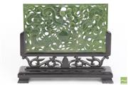 Sale 8490 - Lot 49 - Carved Possibly Jadeite Panel on Stand