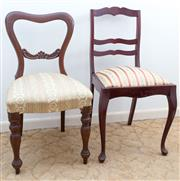 Sale 8515A - Lot 7 - Two sundry chairs each upholstered in brocade upholstery