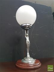 Sale 8566 - Lot 1136 - Art Deco Lady Lamp