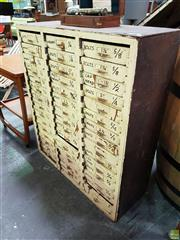 Sale 8566 - Lot 1104 - Industrial Chest of 45 x Drawers