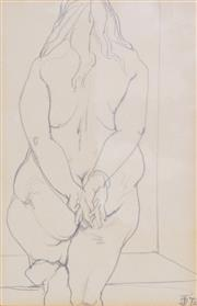 Sale 8565A - Lot 5056 - Dorothy Thornhill (1910 - 1987) - Impasse - Standing Nude, 1974 22 x 14.5cm