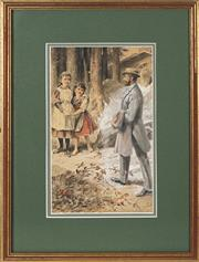 Sale 8755A - Lot 5077 - Charles George Copeland (1855 - 1945) - Welcome Home 26 x 16cm