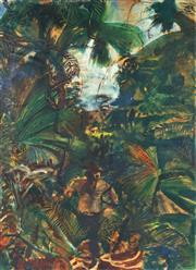 Sale 8791 - Lot 592 - Laurence Hope (1928 - ) - Balinda Jungle, Queensland, 1951 74.5 x 54.5cm