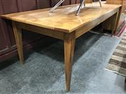 Sale 8787 - Lot 1041 - Elm French Provincial Style Dining Table