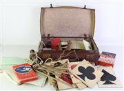 Sale 8944 - Lot 20 - Case of Vintage Games incl. small bowling pins