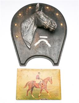 Sale 9175 - Lot 29 - A Commemorative Phar Lap 1930 Melbourne Cup Winners Plaque Together With an Early Plaque