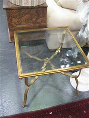 Sale 7972A - Lot 1050 - Pair of Metal and Glass Occasional Tables