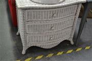 Sale 8066 - Lot 1075 - Wicker Chest of 3 Drawers