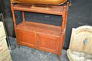Sale 8115 - Lot 1052 - Late Victorian Pine Dumbwaiter, of two tiers and with two panel doors