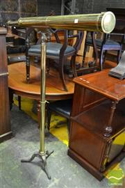 Sale 8500 - Lot 1091 - Victorian Brass Telescope, Yeates & Son, Dublin, on a tall adjustable stand with three feet