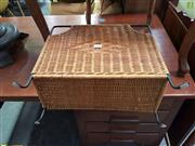 Sale 8566 - Lot 1236 - Wicker and Metal Magazine Stand