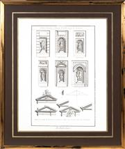 Sale 8770A - Lot 87 - An architectural study of French interest, frame size 69 x 59cm