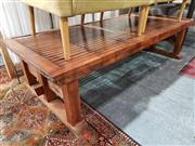 Sale 8934 - Lot 1039 - Japanese Coffee Table with Slat Top
