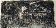 Sale 8961A - Lot 5066 - Christopher Gentle (1939 - ) - Homestead 35 x 68 cm (sheet: 56 x 76 cm)