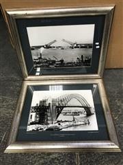 Sale 9033 - Lot 2082 - A pair of black and white photographs of Sydney Harbour bridge, 1930, from the Bradfield collection 63 x 79cm (each)