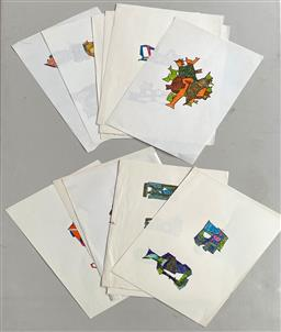 Sale 9135 - Lot 2068 - A selection of approx 50 original sketches by Lyndon Dadswell c1970s (unsigned) Provenance: The Artists Estate; with accompanying L...