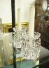 Sale 7360 - Lot 2 - A PAIR OF CUT GLASS CANDLESTICKS