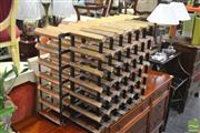 Sale 8341 - Lot 1072 - Two Timber & Metal Wine Racks