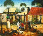 Sale 8475 - Lot 536 - Kevin Charles (Pro) Hart (1928 - 2006) - Wash Day 29 x 34.5cm