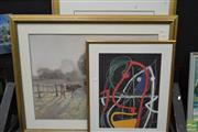 Sale 8503 - Lot 2092 - Group of (3) Decorative Prints after Modigliani, Miro, and Elioth Gruner (framed/various sizes)