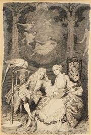 Sale 8575 - Lot 554 - Norman Lindsay (1879 - 1969) - Illustration to Congreves Play 32 x 21cm