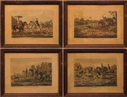 Sale 8651A - Lot 73 - Artist Unknown (4 works) - Stag Hunting Plates 1 - 4 21 x 31cm, each