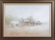 Sale 8677B - Lot 906 - John Lovett, outback scene, oil on board, 59cm x 90cm signed lower right