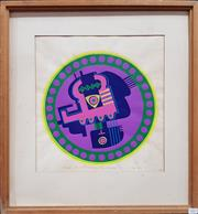 Sale 8782 - Lot 1067 - Wendy Adams The eye in the martian machine gun, being electrocuted 1969 screenprint ed. 6/10, 59 x 54cm (frame), signed and dated...