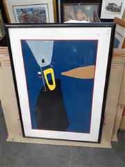 Sale 9082 - Lot 2068 - Max Ackermann Abstract serigraph 114 x 83cm (frame)