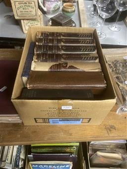 Sale 9106 - Lot 2345 - Box of Mixed Books incl ed D.Cowie The Antiques Year Book 1957-58 Tantivy Press