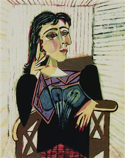 Sale 9180A - Lot 5021 - PABLO PICASSO (1881 - 1973) Dora Maar Seated giclee, ed. 316/500 33.5 x 23 cm (frame: 67 x 49 x 3 cm) Collection Domaine Picasso, em...