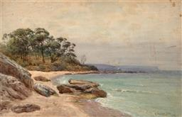 Sale 9256A - Lot 5147 - ALFRED WADHAM SINCLAIR (1866 - 1938) Coastal Scene, 1913 watercolour 33 x 50 cm (frame: 55 x 72 x 2 cm) signed and dated lower right