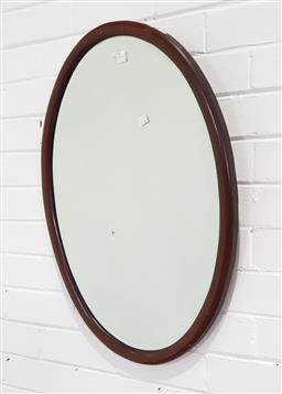 Sale 9255 - Lot 1225 - Oval timber framed mirror (73 x 54cm)