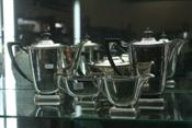 Sale 7876 - Lot 30 - Hecworth Silver Plate 5 Piece Tea & Coffee Service
