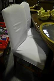 Sale 8093 - Lot 1177 - Set of 4 High Back Dining Chairs