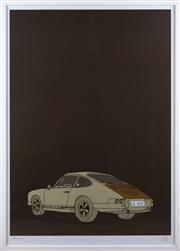 Sale 8308A - Lot 217 - Carby Tuckwell, Original Deus ex Machina limited edition silkscreen, the 911 Porsche, 88 x 64cm inc. framing, signed and dated lower...