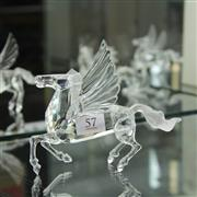 Sale 8336 - Lot 57 - Swarovski Crystal 1998 Fabulous Creatures 'Pegasus'