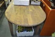 Sale 8371 - Lot 1067 - Recycled Elm Oval Dining Table