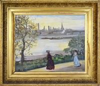 Sale 8392H - Lot 35 - Charles Edward Conder (1868-1909) - View from Conders house